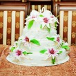 Stock Photo: Traditional and decorative wedding cake