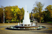 Fountain in a park — Stok fotoğraf