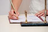 結婚式の署名 — ストック写真