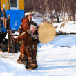 Aboriginals of the north Russsia — Stock Photo