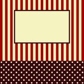 Card for congratulations or the invitation — Stock Vector