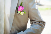 Groom in wedding day — Stock Photo