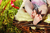 Legs of the small baby — Stock Photo
