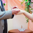 Newly-married couple — Stock Photo
