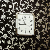 Clock hanging on the wall — Foto Stock