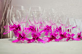 Glasses for champagne — Stock Photo