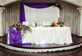 Beautiful wedding table — Stock Photo