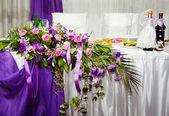 Güzel düğün masa — Stok fotoğraf