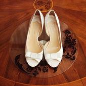 Scarpe da sposa elegante — Foto Stock