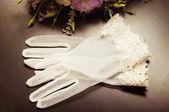 Krásná nevěsta přihlásit se oddací list — Stock fotografie