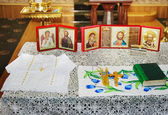 Orthodox church interior — Stock Photo