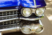 Red retro car headlight — Stock Photo