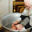 Stock Photo: Ceremony of a baby christening