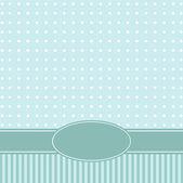 Template of a congratulatory card — Stock Vector
