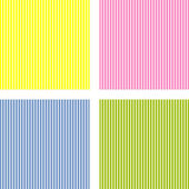 Set of four different pattern. vector. — Stock Vector