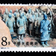 A Stamp printed in China shows Terracotta, 1983 — Stock Photo