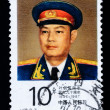 Постер, плакат: A stamp printed in China shows the portrait of Chinese Marshal Ye Jianying