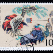 Stamp printed in Chinshows ancient story of Water Margin — Stock Photo #12693486