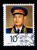 A stamp printed in China shows the portrait of Chinese Marshal Ye Jianying — Stock Photo