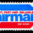 Stamp printed in US shows airmail — Stock Photo #12804092