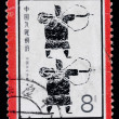Stamp printed in China shows ancient archery — Stock Photo
