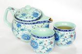 китайская керамика teaset — Стоковое фото