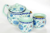 Chinese pottery teaset — Stock Photo
