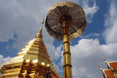 Golden tower of the Suthep Temple in Thailand — Stock Photo