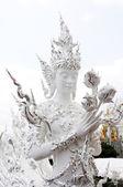 白寺在泰国清莱 — 图库照片