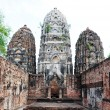 Foto de Stock  : Ancient wat ruins in Historical Park of Sukhothai