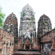 Stockfoto: Ancient wat ruins in Historical Park of Sukhothai
