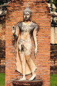 Statue of a deity in the Historical Park of Sukhothai — Stock Photo