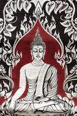 Estátua de uma divindade no parque histórico de sukhothai — Foto Stock