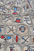 Hieroglyphics of Dongba language — Stock Photo