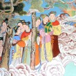 Buddhist art on the walls — Stock Photo