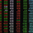 Stock Photo: Colored ticker board on black