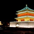 Night view of the Bell Tower in Xian — Stock Photo