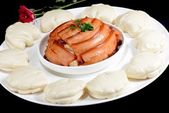 Chinese Food: Steamed Bread with Pork — Stockfoto