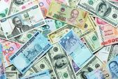 Various currency paper, banking and finance, money savings — Stok fotoğraf