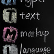 HTML acronym - hyper text markup language — Stock Photo #9024713