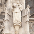 Statues On Gothic Cathedral — Stock Photo