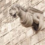 Gargoyle Statues on Gothic Cathedral — Stock Photo #14166732