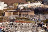 Blick über barcelona marina — Stockfoto