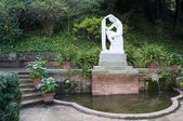 Nude Statue in Jardins Joan Maragall — Stock Photo