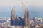 Sagrada Familia in a Cityscape — Stock Photo