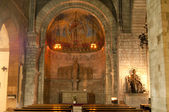 Inside of Sant Pere de les Puel.les Church — Stock Photo