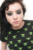 Beautiful Brunette Rocker Girl — Stock Photo
