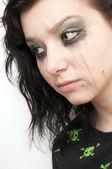 Emo Beautiful Girl Crying — Stock Photo