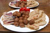 Appetiser Plate based on fish — Stock Photo