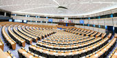 The hemicycle, debating chamber — Stock Photo